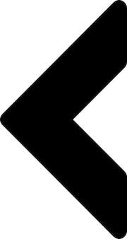 Linker driehoekige pijl