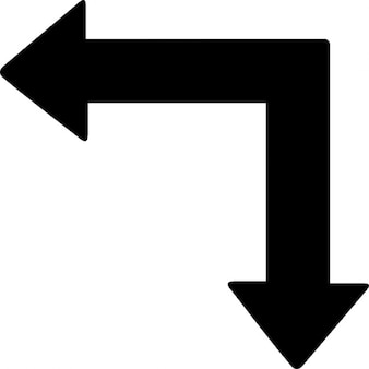 Links en pijl omlaag