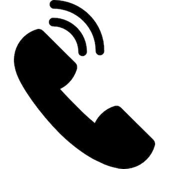 Luisteren een gesprek via de telefoon auricular