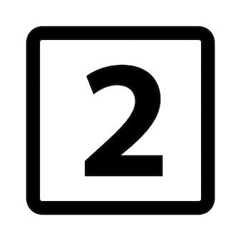 Nummer twee in afgerond vierkant