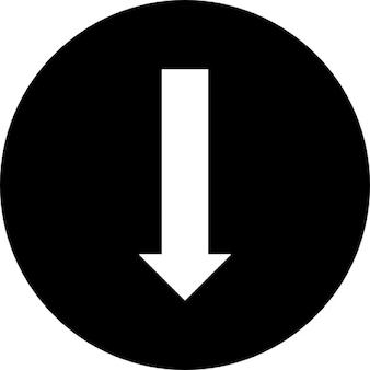 Pijl in een cirkel punt naar beneden
