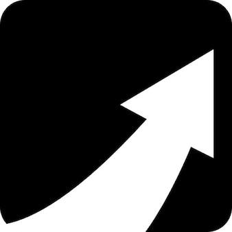 Pijl in een vierkant met afgeronde hoeken