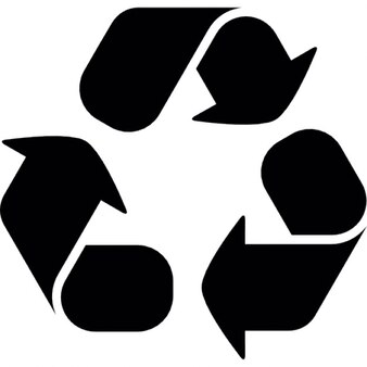 Recycling symbool met drie pijlen curve