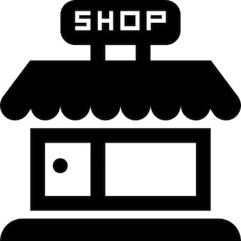 Shop bewaren frontale gebouw