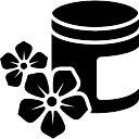 Spa cream pot van verse bloemen