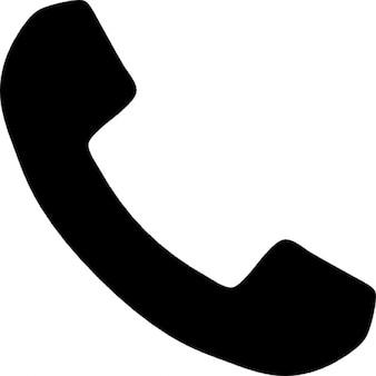 Telefoon greep silhouet