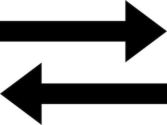 Twee pijlen die overdracht