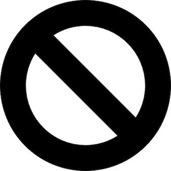 Verboden simbol