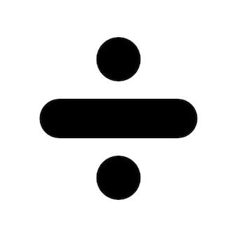 Verdelen symbool