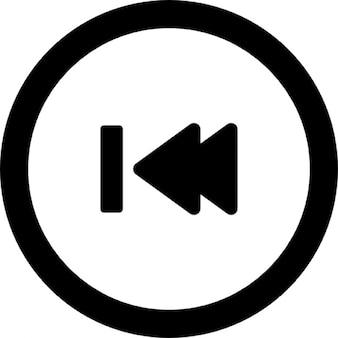 Vorige track knop