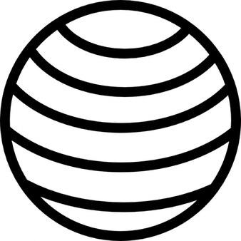 Wereldbol met horizontale lijnen patroon