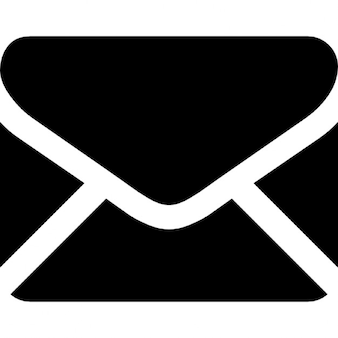 Zwarte rug gesloten envelop vorm