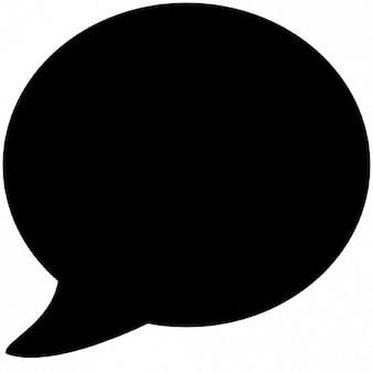 Balão de discurso arredondado