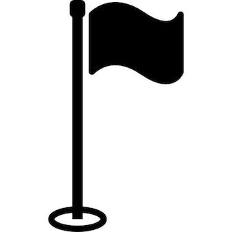 Bandeira de golfe com vara