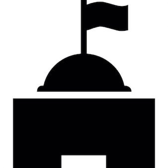 Base com bandeira