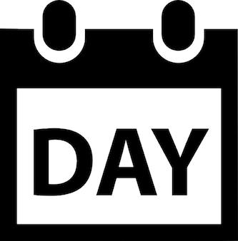 Calendário com a palavra dia