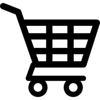 Carrinho de compras de projeto checkered