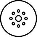 Chuveiro orifícios circulares para água