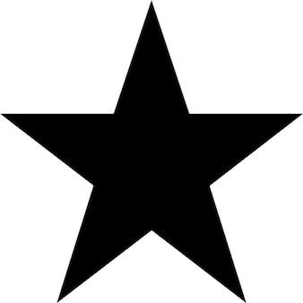 Cinco pontos da estrela. Ícone grátis