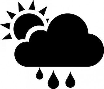 Clima. chuvoso, cloudly e ensolarado dia
