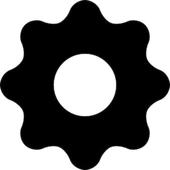 Configurações de engrenagem para botão de interface