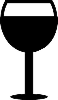 Copo de vinho cheio