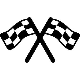 Duas bandeiras automóveis