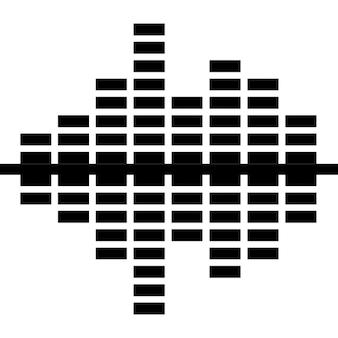Equalizador convergindo barras de som