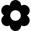 Flor com pétalas arredondadas