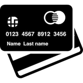 Frente do cartão de crédito e traseira