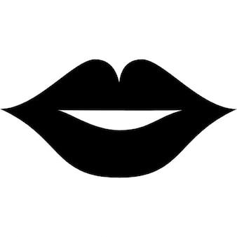 Lábios da boca sexy feminino