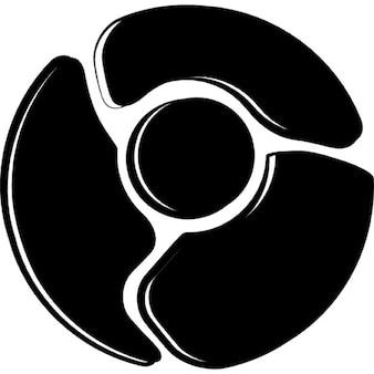 Logotipo cromado esboço símbolo variante