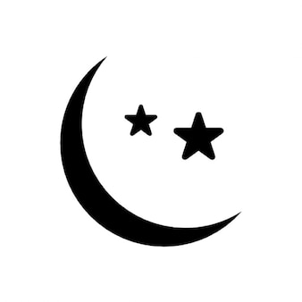 Lua e as estrelas