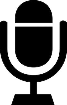 Microfone com base de