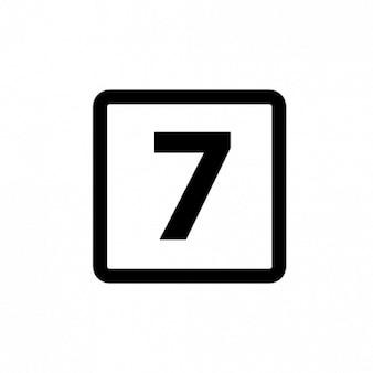 Número 7 ícone