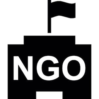 Organização não governamental com sede bandeira