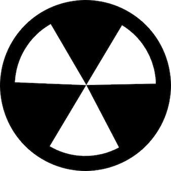 Radioativo e símbolo de perigo