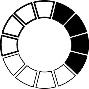 Roda de cores preto e branco