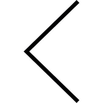 Seta, anterior, símbolo ios interface de 7