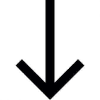 Seta para baixo para baixo, iOS símbolo 7 de interface