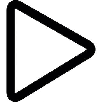 Seta triangular apontando para a direita