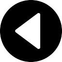 Seta Voltar esquerda botão circular