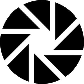 Símbolo fotografia abertura