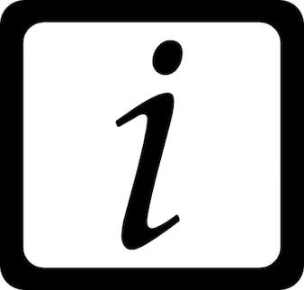 Símbolo letra itálica em um quadrado arredondado