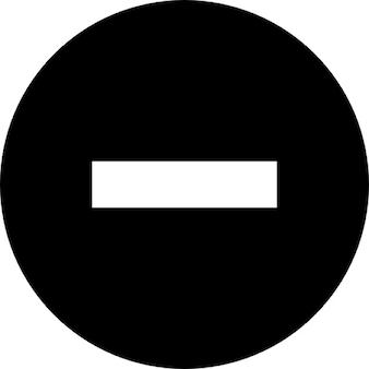 Símbolo negativo em um círculo. sinal de proibido