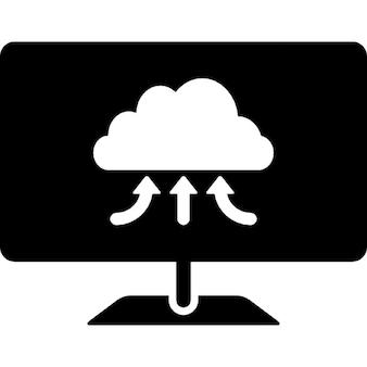 Símbolo share computador em nuvem