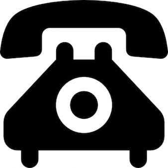 Telefone com discagem, estilo vintage