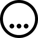 Três pontos na parte inferior de um círculo