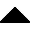 Triangular preenchido seta