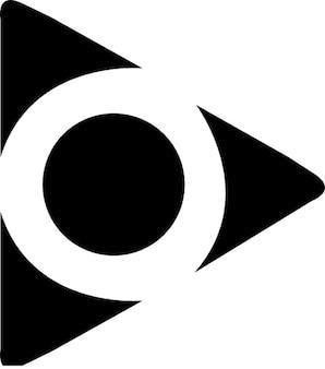 Triângulo e círculo. forma abstrata